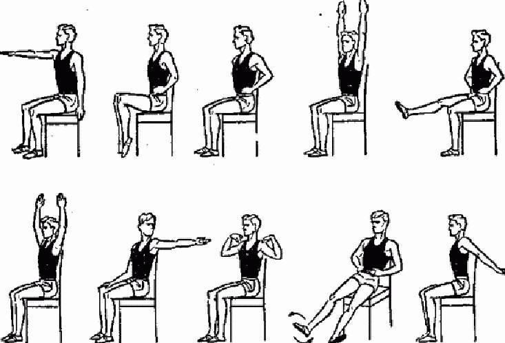 Упражнения сидя
