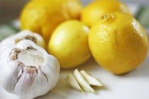 Как приготовить лимон с чесноком
